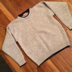 Woolrich wool vintage sweater.grey medium